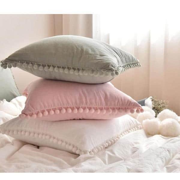Extravagant POM POM Throw Cushion | Celiné Pillow