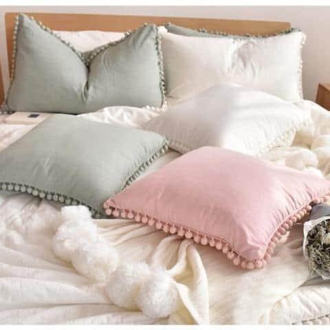 Extravagant POM POM Throw Cushion | Celiné