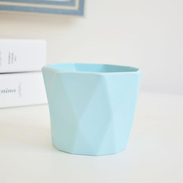 Little Hero by Jasmine Bergmann Vase Light Blue