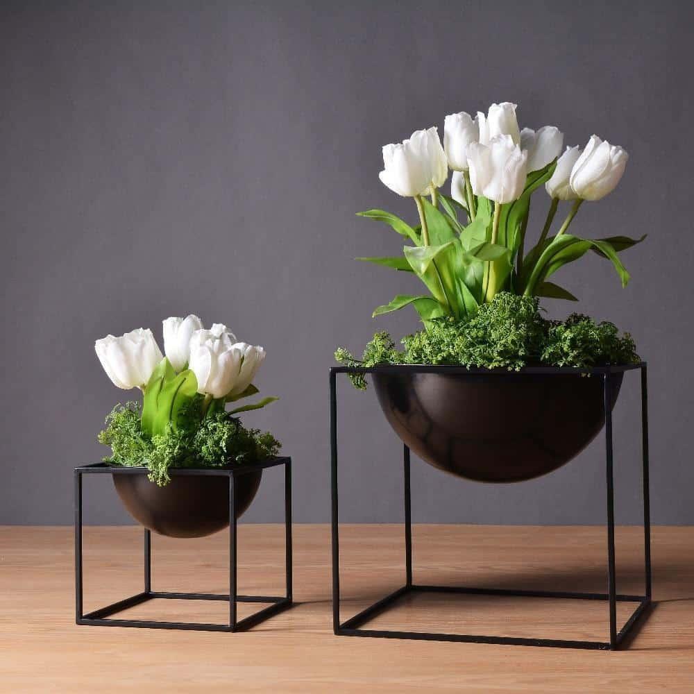 BW Cube by Henry Jacobsson / Plant Pot Vase