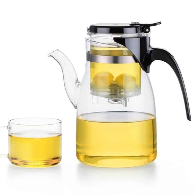 Yomoto Beatriz Glass Tea Set 900ml /4+1pcs unique and elegant Kettle