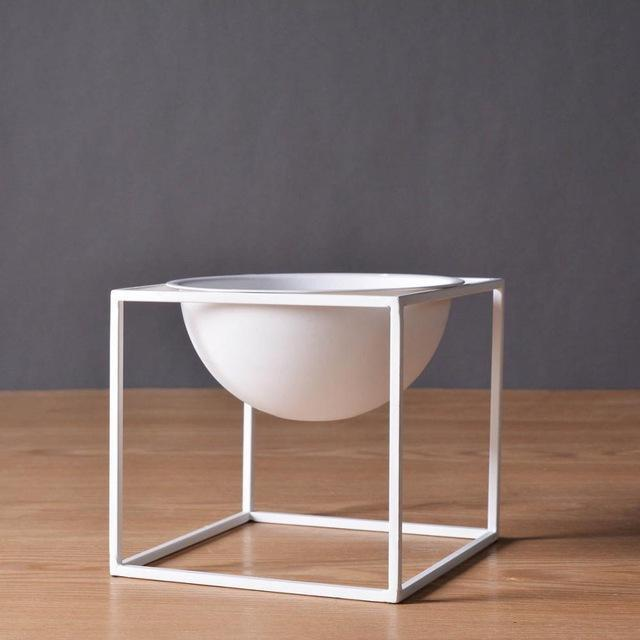BW Cube by Henry Jacobsson / Plant Pot Vase Clear White / Small