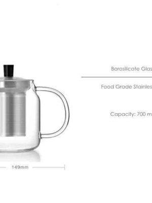 Yomoto Nakama Glass Tea Set 700ml /4+1pcs