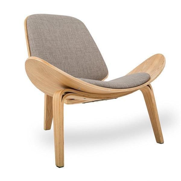 Lucetta Three by Hannes Malmström / Legged Shell Chair Chair Gray