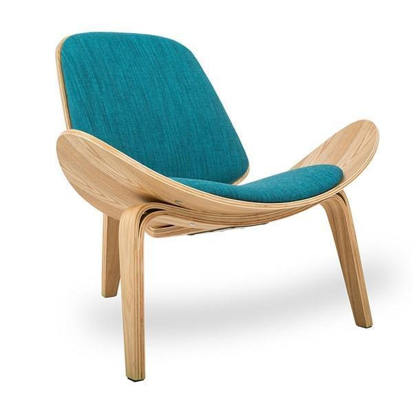 Lucetta Three by Hannes Malmström / Legged Shell Chair Chair Laguna Blue