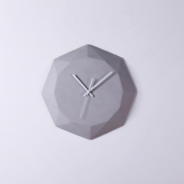 Diamond by Ciara Wall Clock Wall Clock Gray