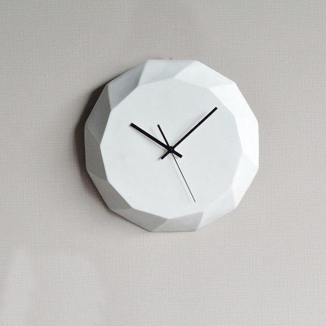 Diamond by Ciara Wall Clock Wall Clock White