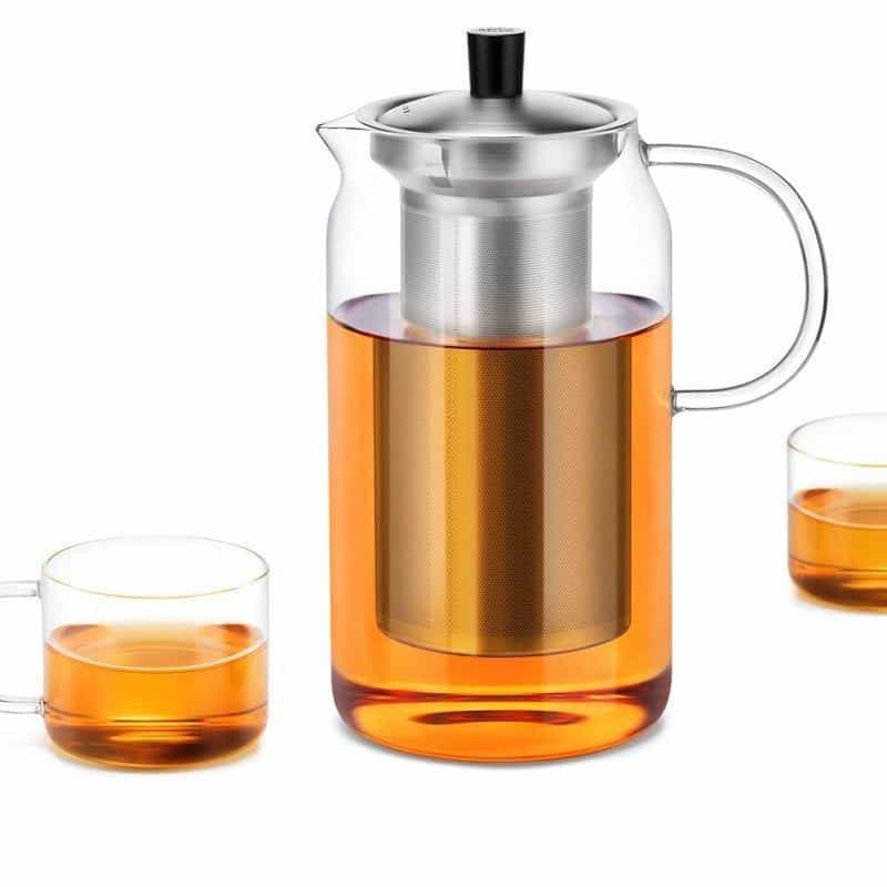 Yomoto Amemori Glass Tea Set 1200ml / 6+1pcs unique and elegant Kettle