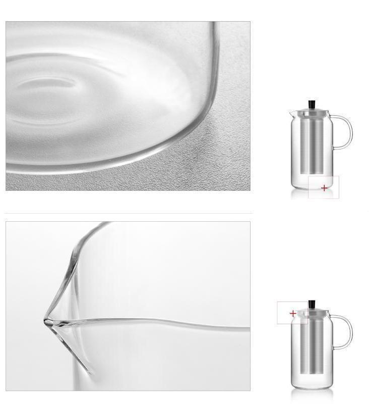 Yomoto Amemori Glass Tea Set 1200ml / 6+1pcs