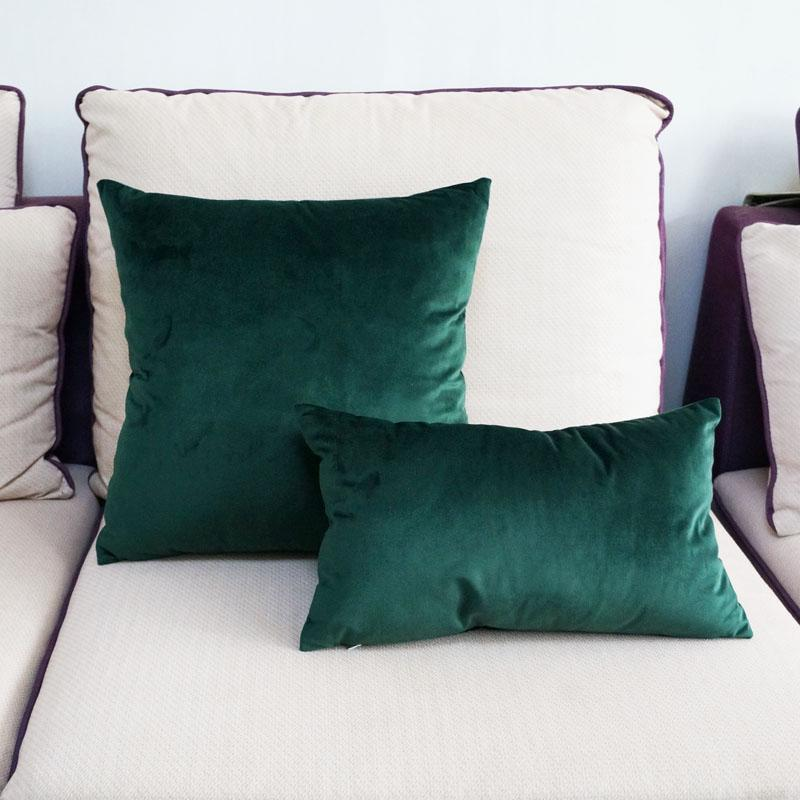 Emerald Green Luxe Pillowcase Pillow 60x60cm