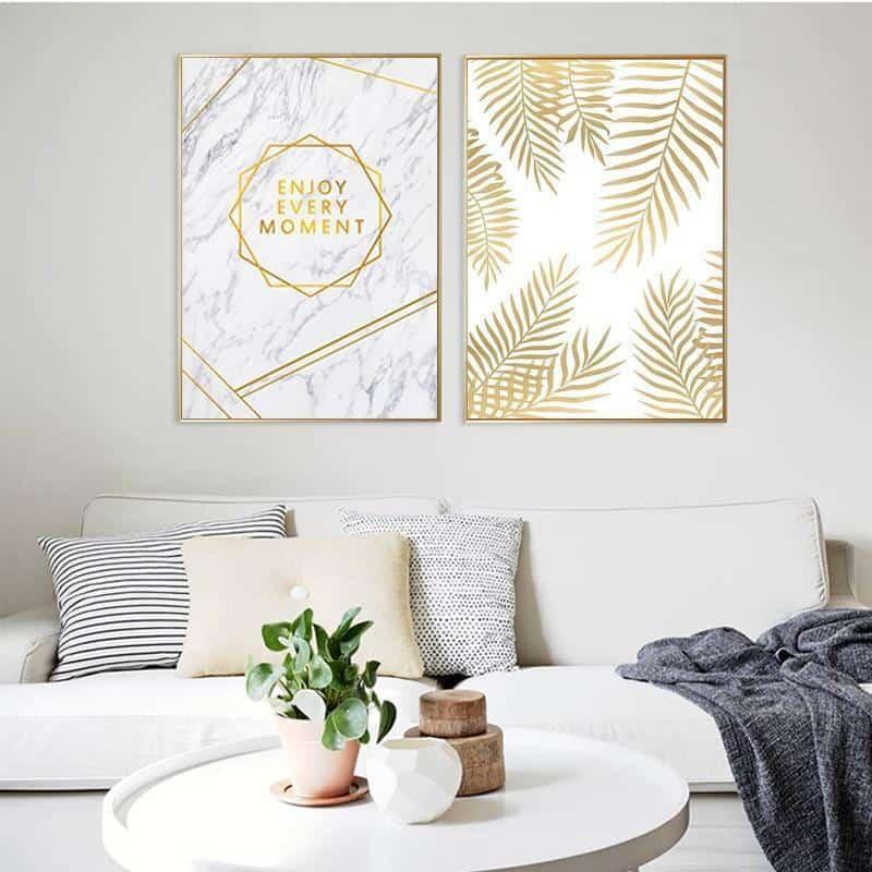 Fabulous Gold Marble | Unframed Canvas Art
