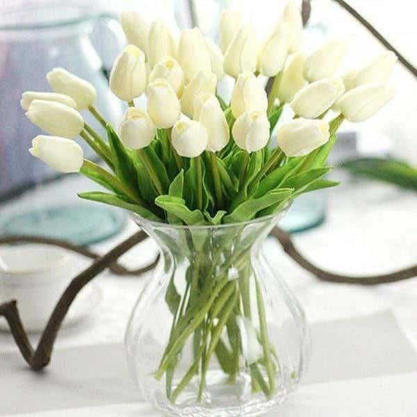 Fantasy by Hannes Malmström Artificial Flowers White / Large - 31pcs