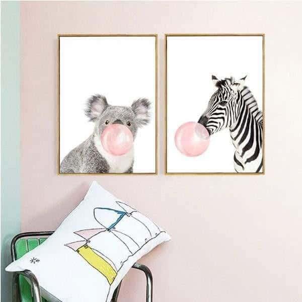 Happy Animals - Say Cheese Canvas print - Wall Art
