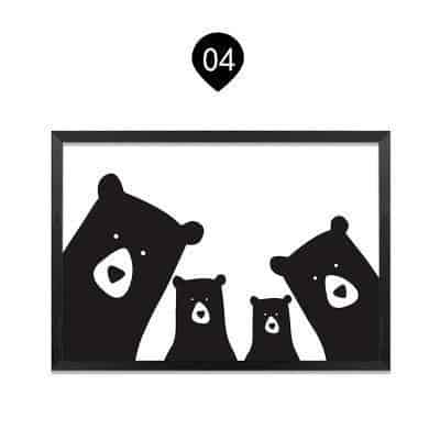 We Are Bears Family | Family Portrait | Unframed Canvas Art unique and elegant Canvas print - Wall Art Bear family 2+2 / 60x90 cm