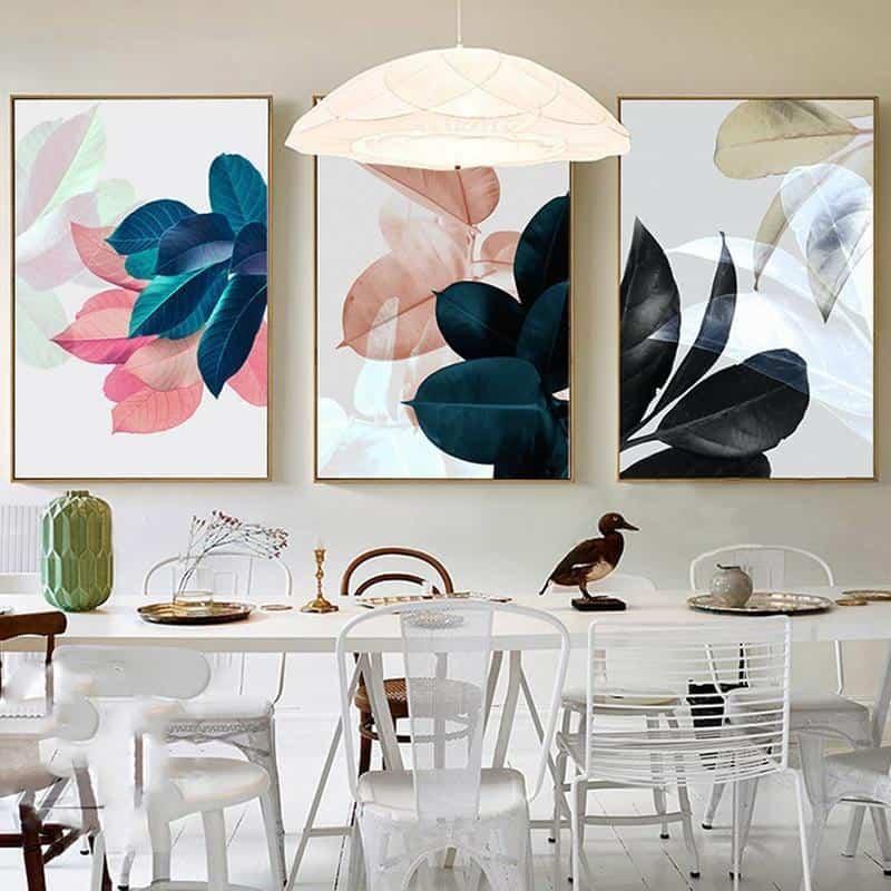 Colorful Flowers & Appeasement   Unframed Canvas Art unique and elegant Canvas print - Wall Art