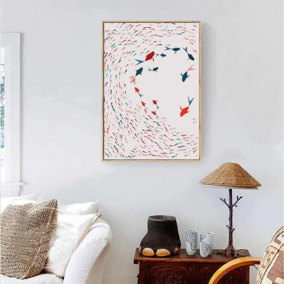 Electric Triangle Mood   Unframed Canvas Art