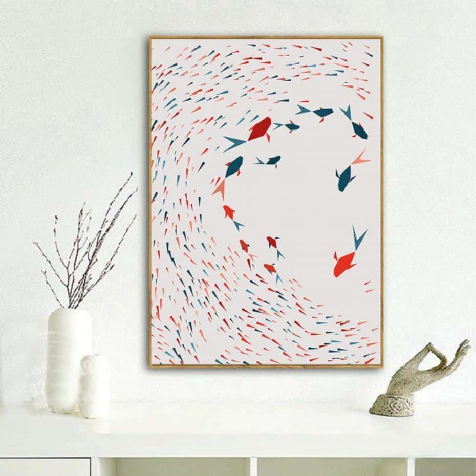 Electric Triangle Mood | Unframed Canvas Art