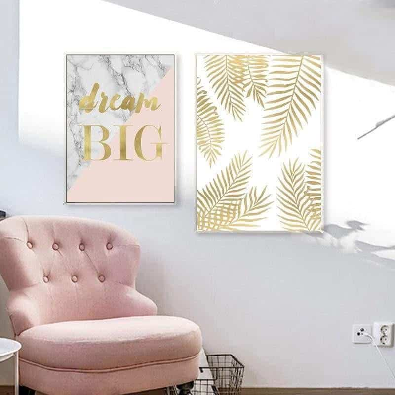 Fabulous Pink Marble | Unframed Canvas Art unique and elegant Canvas print - Wall Art