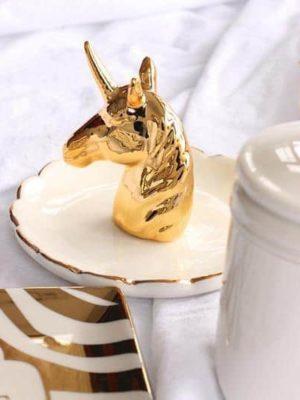 Flora Baker Unicorn Gold Organizer/Ring Holder