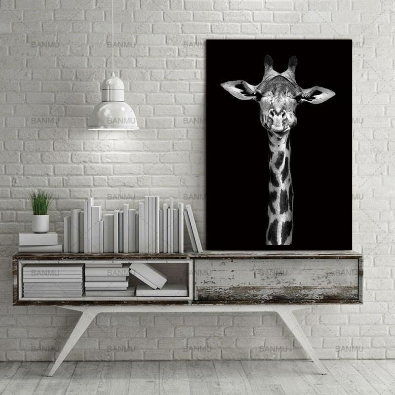 Giraffe Is Looking At Me! | Unframed Canvas Art