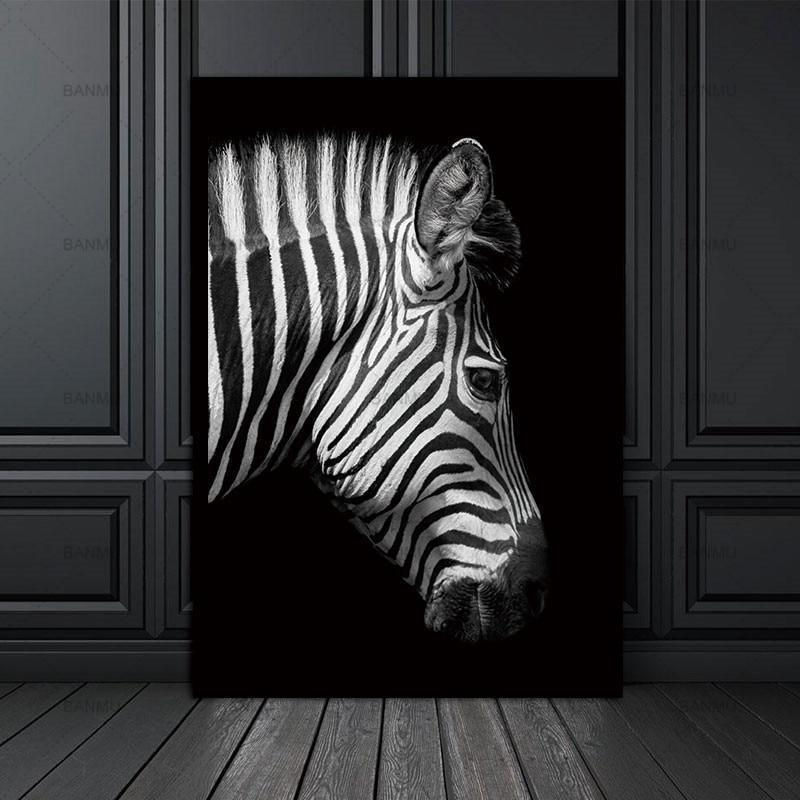 Straight Zebra B&W Canvas print - Wall Art
