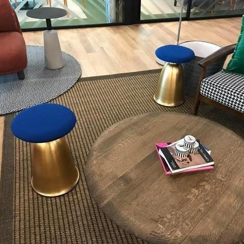 Wenddy by Olivier Cimber Stool Stool Gold + blue