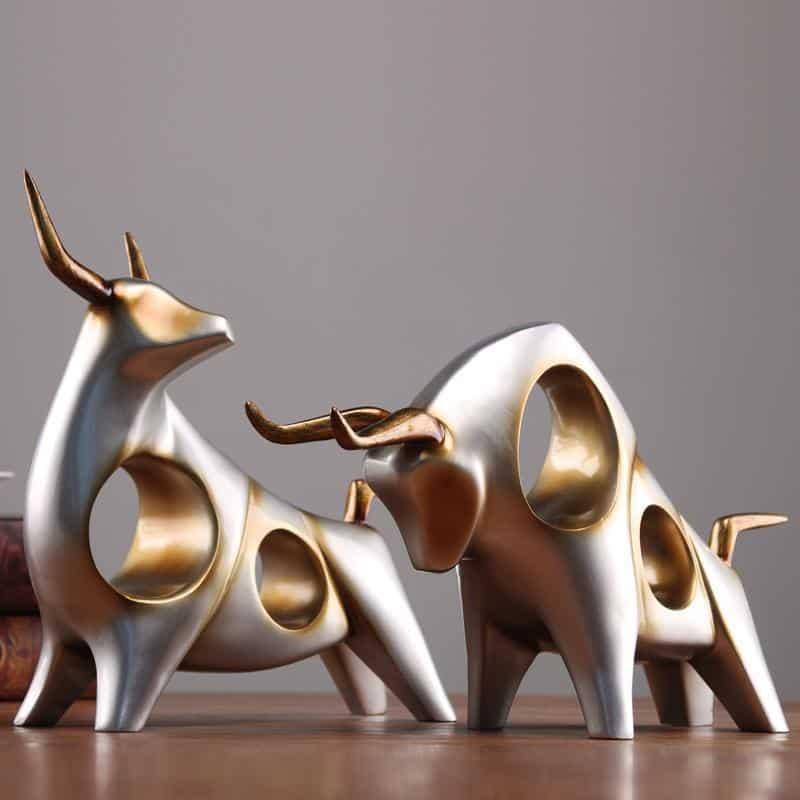 ERNESTO Animadrina Sculptuganta Gold/Silver unique and elegant Sculpture - Artist Design