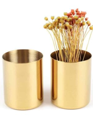 Perfecto Bjorkman Golden Vase/Pen Holder