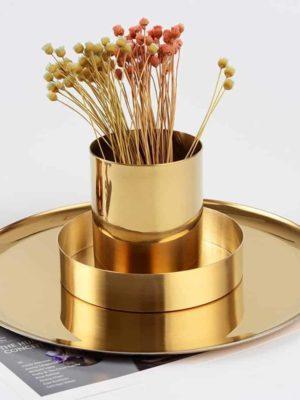 Perfecto Bjorkman Golden Vase/Pen Holder