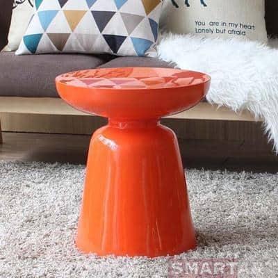 Wenddy by Olivier Cimber Stool Stool Sunny orange