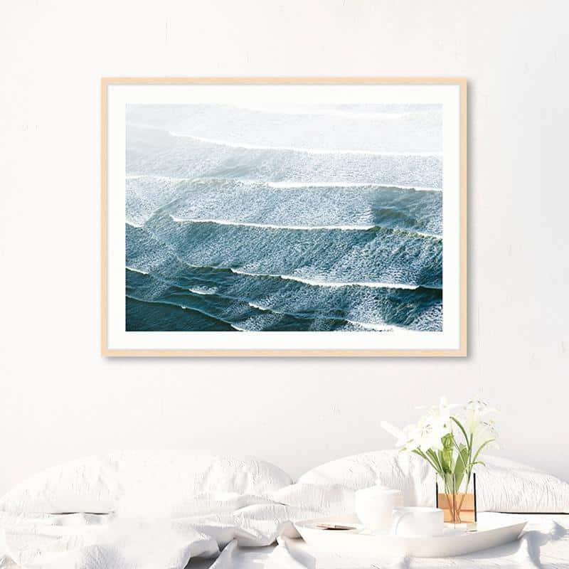 Söderlund Sea View | Light Blue | Unframed Canvas Art