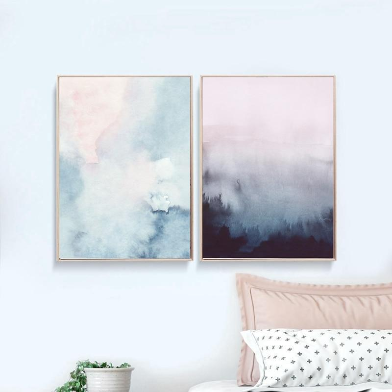 Pink Paradise View | Unframed Canvas Art