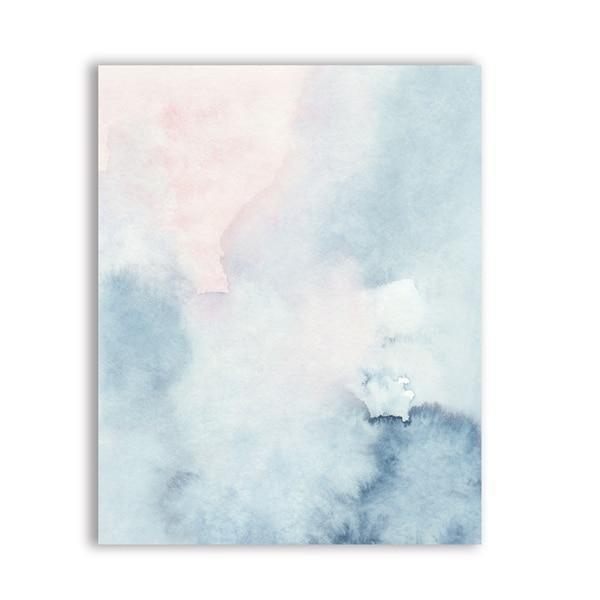 Pink Paradise View Canvas print - Wall Art Magic Fog / 50x70 cm
