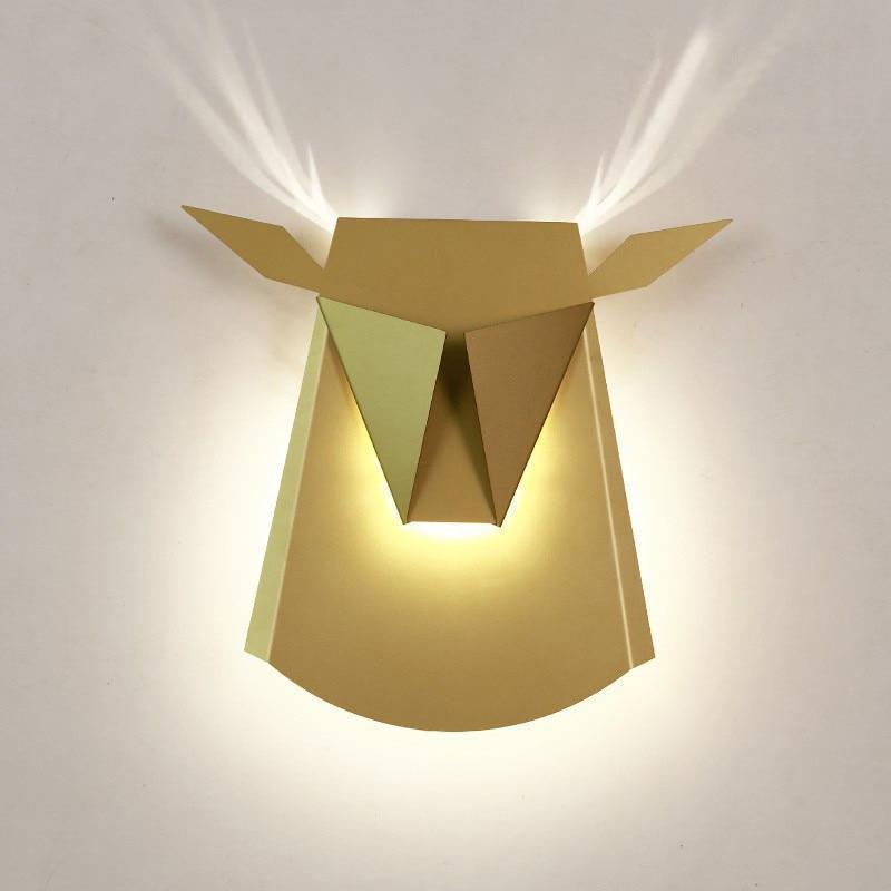 Golden Tjur BW, Wall/Bed Lamp Wall lamp Gold