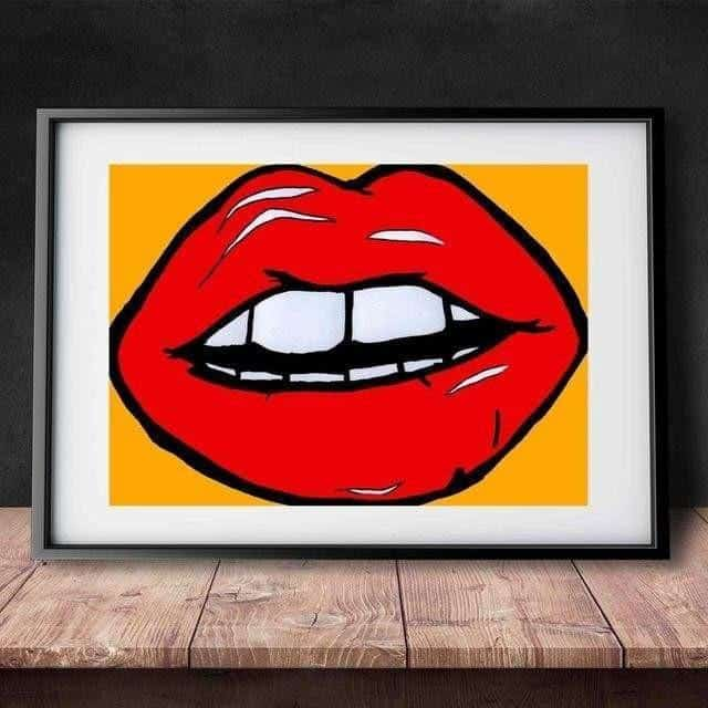 KISS ME – Lipstick with passion | Unframed Canvas Art