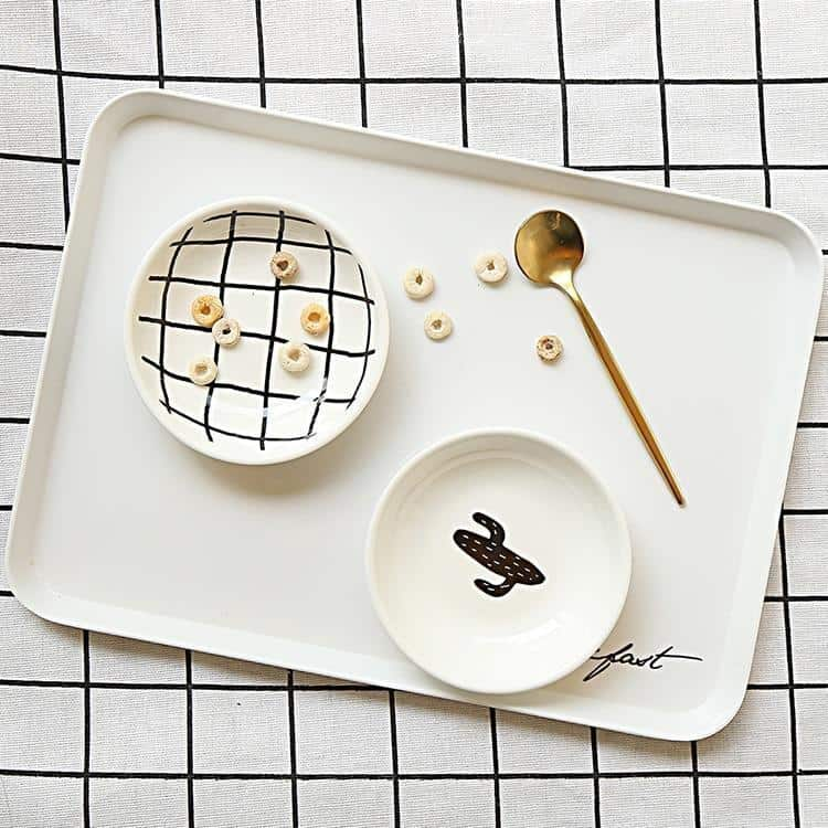 B&W by Una Hubmann 3pcs/set unique and elegant Dinnerware