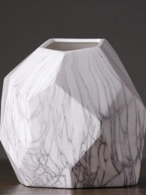 Marble Geometrik Vase
