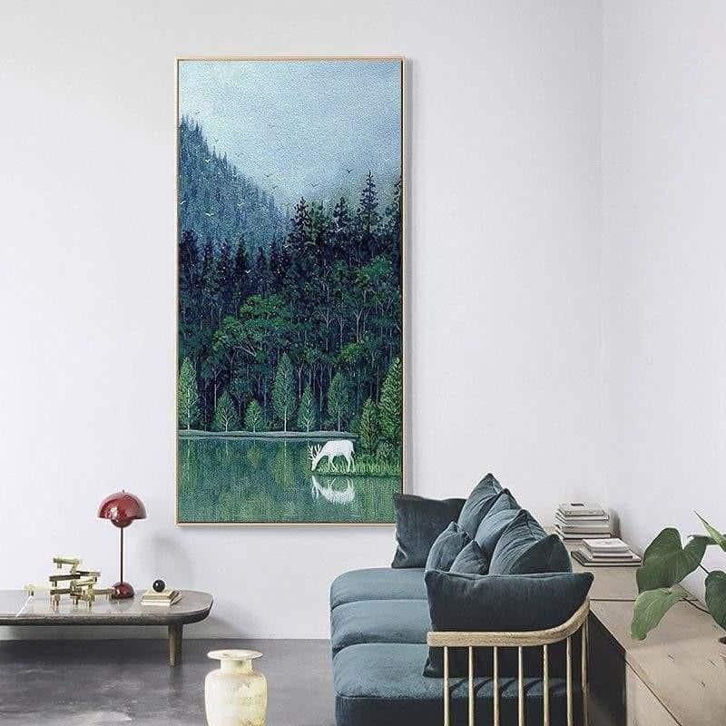 Spring Forest | Unframed Canvas Art