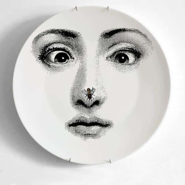 Forney Italy Plates Black And White Dinnerware