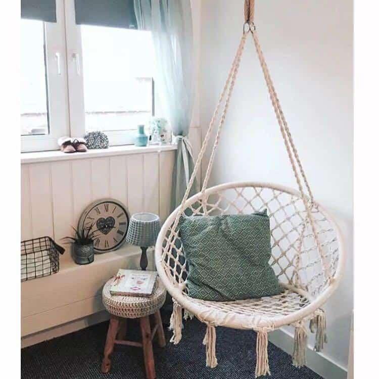 Hannes Malmström Handmade Knitted Hammock Swing Bed