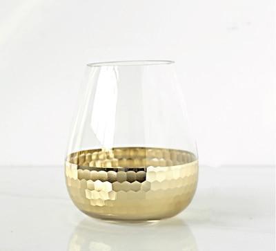 Lily-May Ruby Gold Vase Vase Starlight / gold