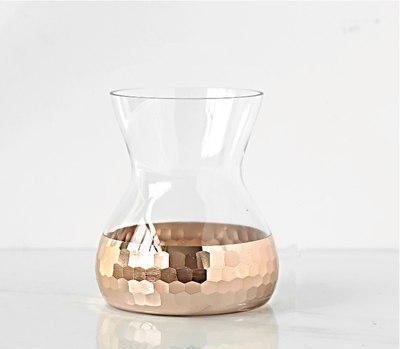 Lily-May Ruby Gold Vase Vase Mirage / rose gold