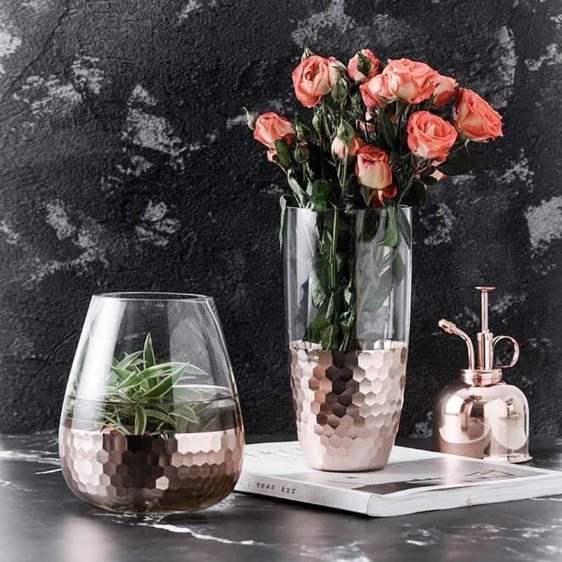 Lily-May Ruby Gold Vase Vase
