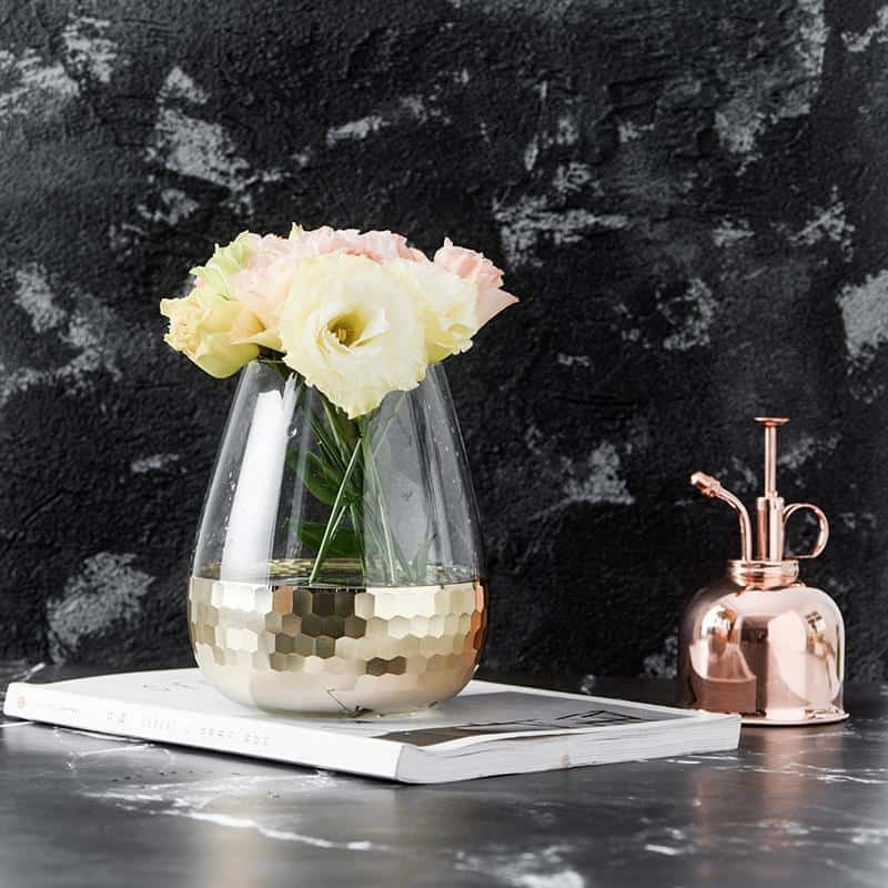 Lily-May Ruby Gold Glass Vase