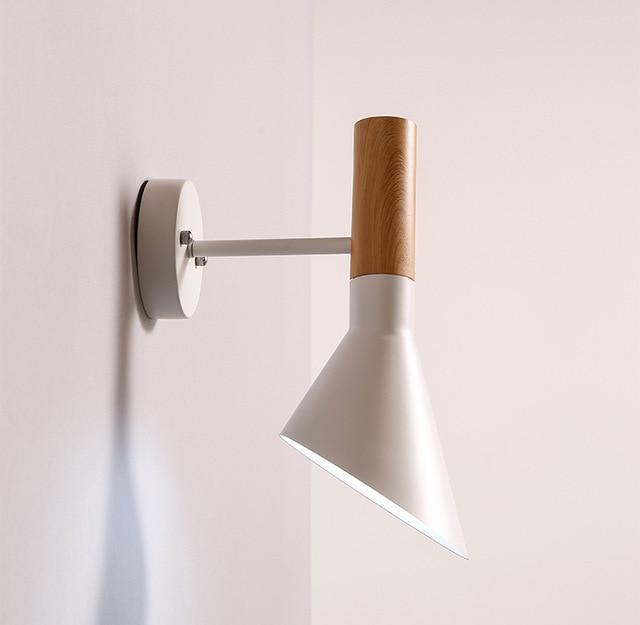 SeeWhoo Jacob Wall Lamp Wood Like White