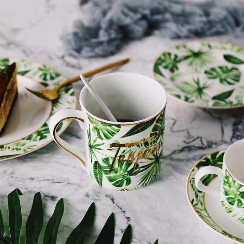 Luna Floral / Porcelain Mugs