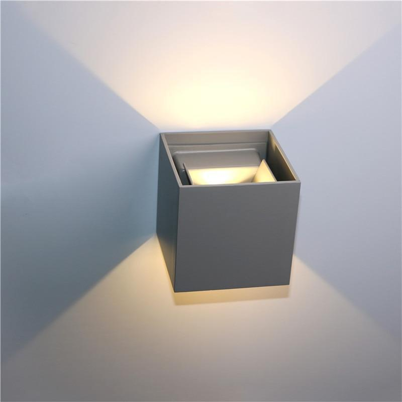 Veronica Cube S2 Wall Lamp Deco unique and elegant Wall lamp Cool gray / 7W / Cold White