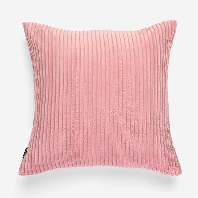 Flocking Cushion by Celiné Pillow Pink / 60x60cm