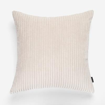 Flocking Cushion by Celiné Pillow Ivory / 60x60cm