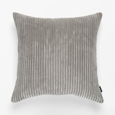 Flocking Cushion by Celiné Pillow Light Grey / 60x60cm
